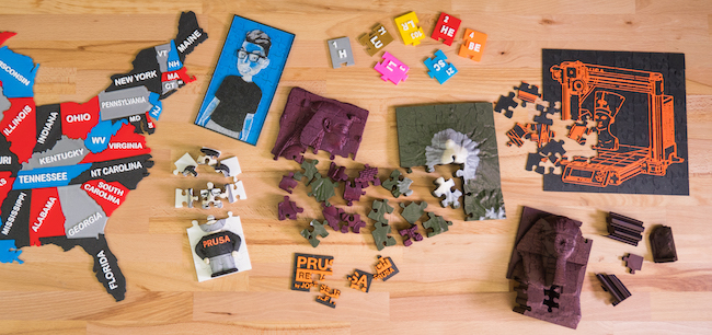 3D jigsaw puzzles by Prusa Printers